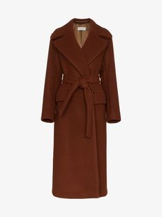 Shop Dries Van Noten long belted wool blend coat from our Single Breasted Coats collection. Fast Fashion, Winter Fashion, Long Winter Coats, Color Pairing, Slip Skirts, Brown Fashion, Winter Wear, Who What Wear, Wool Blend