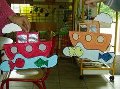 Make a Writing template Summer Crafts, Diy And Crafts, Arts And Crafts, Paper Crafts, Cooperative Games, Ocean Crafts, Ocean Themes, Elementary Art, Preschool Crafts