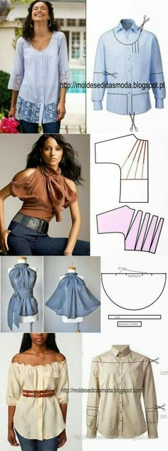 Hazlo tu misma dale un toke a ropa que ya no usas y ponla de moda ... te atreves !! ✂❤
