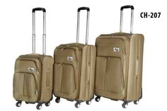 CH-207 Khaki. Travel in style with this #classy #luggage set by #Chariot!
