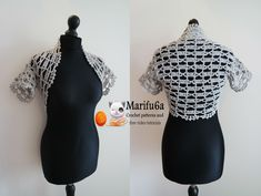 How to crochet easy bolero for beginners from one ball all sizes pattern...