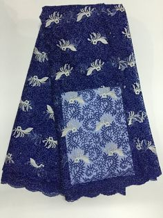 African Net Lace Floral Embroidered Nigerian French Lace XD003-7  https://www.lacekingdom.com/