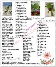 Kurbağa Felix - Açıklamalı Modellerimiz Owl Crochet Patterns, Crochet Doll Pattern, Amigurumi Patterns, Amigurumi Doll, Doll Patterns, Knitted Dolls, Crochet Dolls, Crochet Yarn, Crochet Gratis