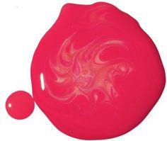 Hot pink splash of color.