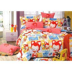 Farebná obliečka na detskú posteľ s potlačou