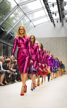 The finale of the Burberry Prorsum Womenswear, Spring/Summer 2013 show #LFW