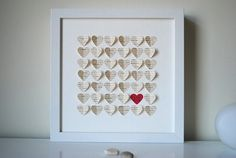 First Anniversary Gift Personalized 3D Hearts made by SuzyShoppe