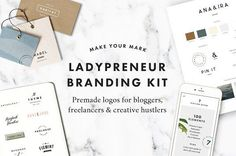 Ladypreneur Branding Kit by Station Seven on @creativemarket