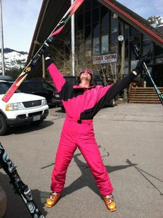 80's Ski Gear: What you need to look Rad. The Onesie!