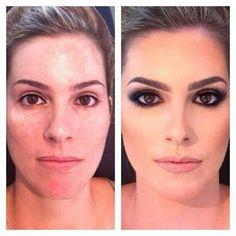 Gorgeous brown eye makeup