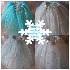 Princess Party Ideas. Beautiful FROZEN inspired tutus Shop Now at www.myprincesspartytogo.com #princesspartyideas #frozen #frozenfavors