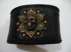 skullotus goth punk cuff by jungle tribe