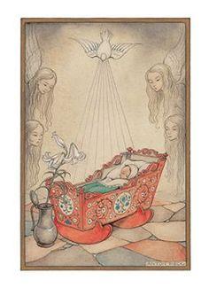BabyFactory.nl kaart Baby met engelen voorkant