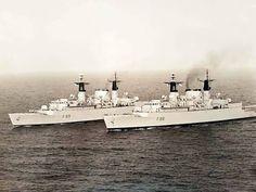 Type 22 Frigates, HMS Broadsword and HMS Battleaxe. DA 1 posted.