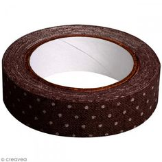 Fabric tape thermofixable - marron poids blancs - 15 mm x 5 m - Photo n°2