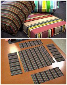 DIY Outdoor Cushion Covers - 20 DIY Cushions or DIY Pillow Ideas To Upgrade Your Seating - DIY & Crafts #outdoorideasdiy
