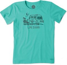 f4054bfe Buy women's Life Is Good teardrop trailer tees at Teardrop Shop. We offer  all of the supplies you need to maintain the teardrop trailer lifestyle!