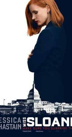 9Dec16 Directed by John Madden.  With Jessica Chastain, Gugu Mbatha-Raw, Alison Pill, Mark Strong. An ambitious lobbyist faces off against the powerful gun lobby in an attempt to pass gun control legislation.