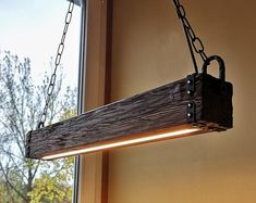 Check out our wood industrial chandelier selection for the very best in unique or custom, handmade pieces from our shops. Rustic Pendant Lighting, Wooden Chandelier, Rustic Light Fixtures, Wood Pendant Light, Hanging Light Fixtures, Led Pendant Lights, Hanging Lights, Industrial Chandelier, Pendant Lamps