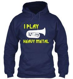 Tuba-I Play Heavy Metal - Hoodie