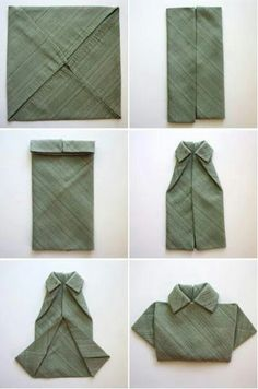 Cute napkin fold for father's day