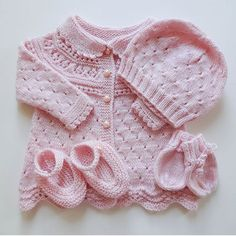 Daily Knit Pattern: Lace Baby Drops