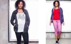 """Cute active look for yoga! """"Think Happy"""""""