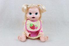 Baby-Alive-Super-Snacks-Snackin-Sara-Blonde-Soft-Face-2014-Hasbro-Baby-Doll