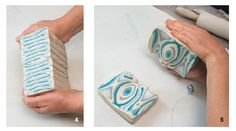 Ceramic Arts Daily – How to Make Marbled Effects on Pottery Using Colored Clay Slabs