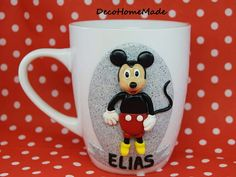 Polymer clay mug - Mickey Mouse