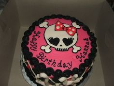 pink girl skull brithday party | This Awesome Cake was created by Amanda Young in Las Vegas, Nevada .