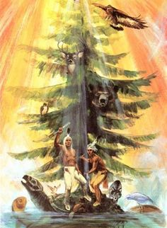 Native American Trees Legends: Potawatomi legends about the Tree of Peace..