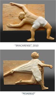 AREL-ARTE: FRANCISCO LEIRO Wood Sculpture, Garden Sculpture, Sculptures, Wood Carving, Wood Art, Paper Art, Woodworking, Abstract, Illustration