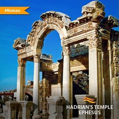 In the Roman period of Anatolia many temples were built and dedicated to Roman Emperors. People worshipped for Emperors. Hadrian Temple was one of them in Ephesus.