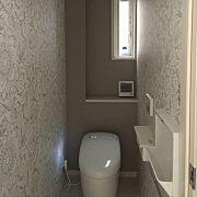 Bathroom,アクセントクロス,トイレの壁,グレー,ネオレスト,サンゲツ壁紙に関連する他の写真 Toilet, Bathroom, Wallpaper, Washroom, Flush Toilet, Bath Room, Toilets, Bath, Wallpapers