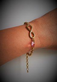 Luxe armband Infinity Gold - Swarovski hartje - sieraad geschenk   Armbanden ❤️   Charmant Sieraden Infinity, Swarovski, Bracelets, Jewelry, Wristlets, Infinite, Jewlery, Jewerly, Schmuck