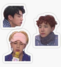 Pegatina BTS Meme Set 3 (Sleepy Edition) Kpop Stickers, Tumblr Stickers, Phone Stickers, Diy Stickers, Printable Stickers, Bts Face, Bts Merch, Bts Chibi, Aesthetic Stickers