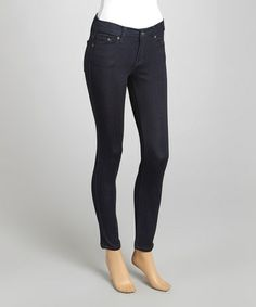 Another great find on #zulily! Black Denim Karlie High-Rise Jeans by Eunina #zulilyfinds