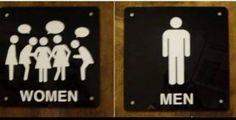 Los rótulos más divertidos que te vas a encontrar al ir al baño.