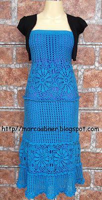 Marcinha crochet: Crochet LONG SKIRT OR DRESS strapless crochet