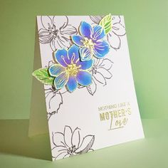 This is the card for my dear Mom today. Happy Mother's Day! Really love this wild hibiscus stamp set from @altenewllc …