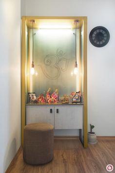Scandinavian-inspired Interior Decoration Adorns this Gurgaon Home Pooja Room Door Design, Home Room Design, Home Interior Design, House Design, Interior Ideas, Kitchen Design, Living Room Tv, Living Room Interior, Altar