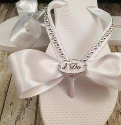 892ad02d6 I Do Bridal Flip Flops Custom Wedding Flip Flops Bride Flip Bride Flats