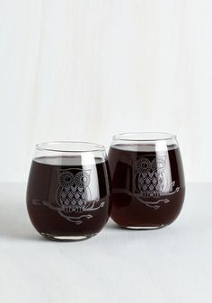 Owl Have the Red Wine Glass Set - From the Home Decor Discovery Community at www.DecoandBloom.com