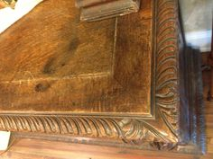 Antique French bookcase hand carved.