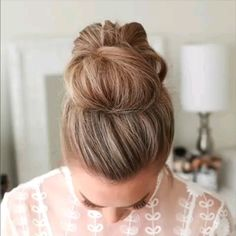 Messy Updo Hairstyle / Latest Hair Trends 2019 A chic style of hairstyle that w. Messy Updo Hairstyle / Latest Hair Trends 2019 A chic style of hairstyle that would get you going for all your casual Medium Hair Styles, Curly Hair Styles, Casual Updos For Medium Hair, Hair Styles With Buns, Messy Bun Medium Hair, Easy Hair Buns, Medium Length Hair Braids, Simple Hair Updos, Buns For Short Hair