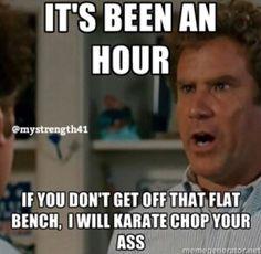Karate chop your ass!!