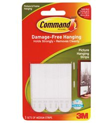 Command Strips The Largest Can Hold Up To A 24 By 36 Inch Picture In Frame And Easily Be Removed