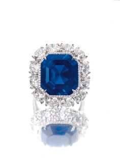 An Imperial Kashmir sapphire and diamond ring featuring a 17.16ct intense cornflower blue coloured sapphire and velvety texture thanks to the needle inclusions that are typical of gemstones from Kashmir completes the top lots at Sotheby's Hong Kong Magnificent Jewels and Jadeite Autumn Sale on 7 October 2014.