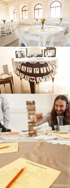 Historic DeKalb Courthouse Wedding #puzzles #crosswordpuzzle #jenga #wedding  #atlanta #decatur